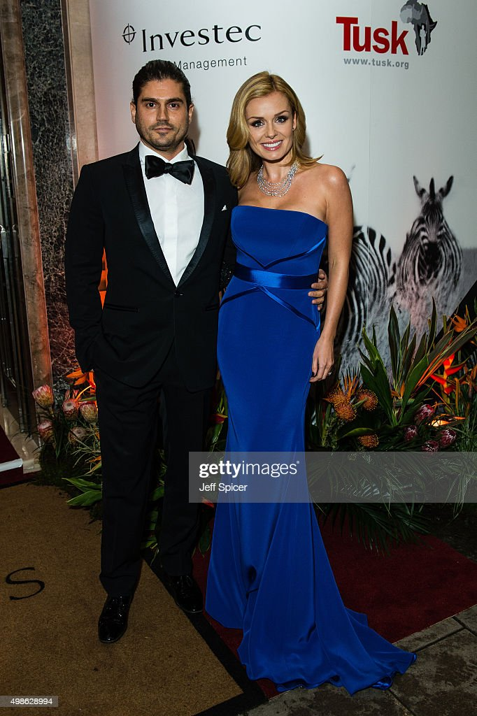 Andrew Levitas and Katherine Jenkins attend the annual Tusk Trust Conservation awards at Claridge's Hotel on November 24, 2015 in London, England.