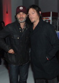 Andrew Lincoln and Norman Reedus attend Hyundai presents The Walking Dead A Decade of Dead at Pillars 37 on October 11 2013 in New York City