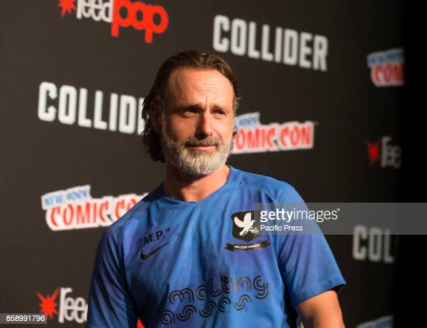 Andrew Lincoln attends The Walking Dead panel at The Theater at Madison Square Garden during Comic Con 2017