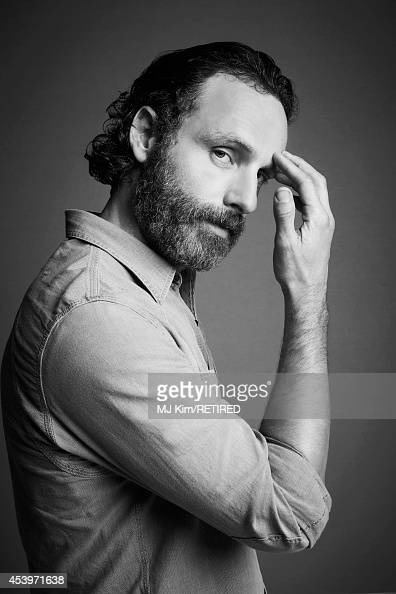 Andrew Lincoln poses for a portrait at the Getty Images Portrait Studio powered by Samsung Galaxy at ComicCon International 2014 on July 24 2014 in...