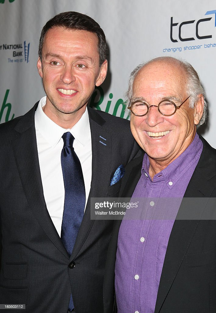 Andrew Lippa and <a gi-track='captionPersonalityLinkClicked' href=/galleries/search?phrase=Jimmy+Buffett&family=editorial&specificpeople=216341 ng-click='$event.stopPropagation()'>Jimmy Buffett</a> attend the 'Big Fish' Broadway Opening Night after party at Roseland Ballroom on October 6, 2013 in New York City.