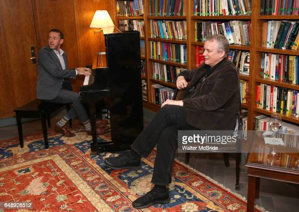 Andrew Lippa and Rick Elice attend the Dramatists Guild Fund Salon With Rick Elice at the Cornell Club on March 6 2017 in New York City