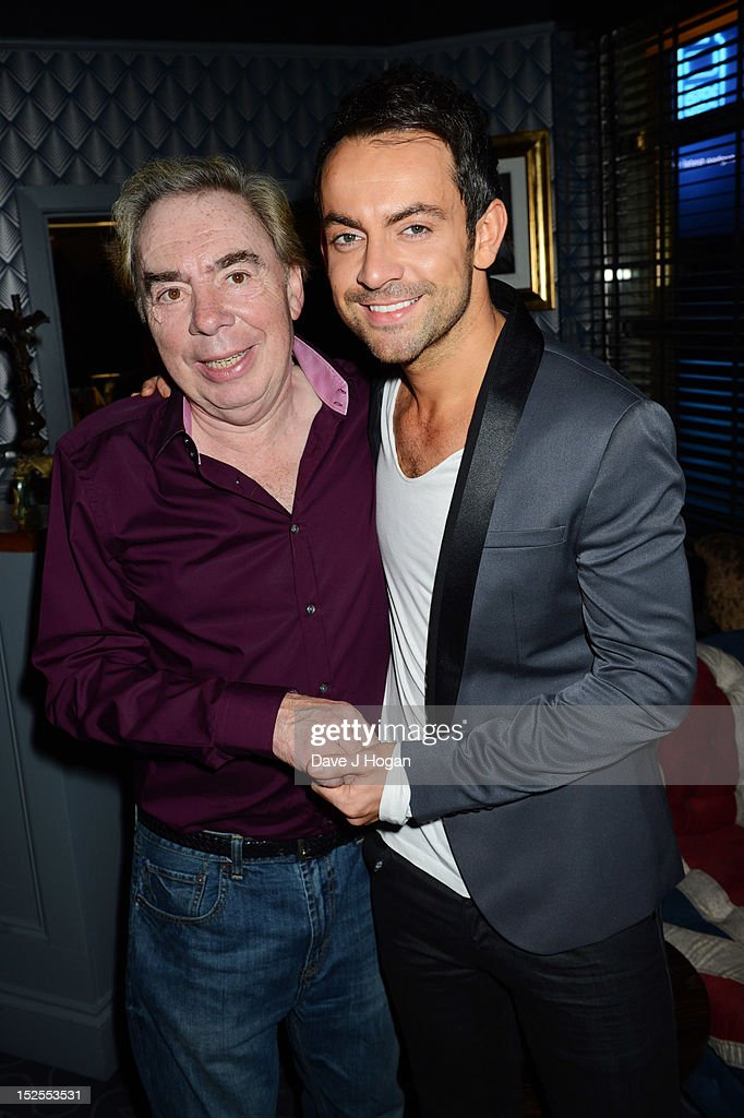 L-R <a gi-track='captionPersonalityLinkClicked' href=/galleries/search?phrase=Andrew+Lloyd+Webber&family=editorial&specificpeople=157705 ng-click='$event.stopPropagation()'>Andrew Lloyd Webber</a> and Ben Forster attend the afterparty for the press night of Jesus Christ Superstar, the arena tour at The O2 Arena on September 21, 2012 in London, England.