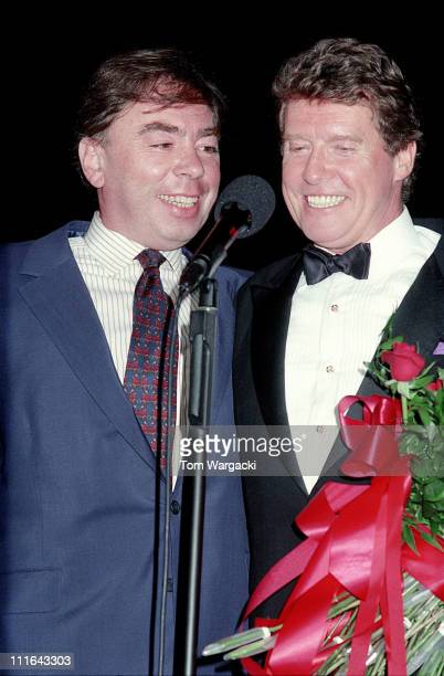 Andrew Lloyd Webber and Michael Crawford during Michael Crawford with his Daughters Opening Night at the Royal Albert Hall June 1992 at Royal Albert...