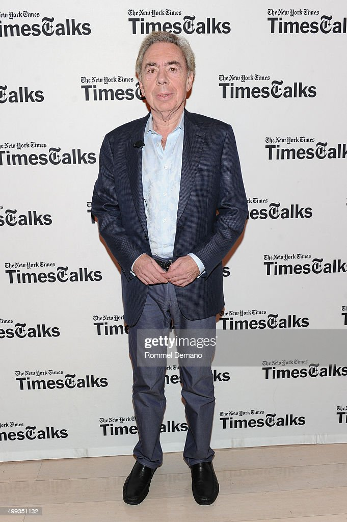 <a gi-track='captionPersonalityLinkClicked' href=/galleries/search?phrase=Andrew+Lloyd+Webber&family=editorial&specificpeople=157705 ng-click='$event.stopPropagation()'>Andrew Lloyd Webber</a> speaks at TimesTalks presents: An Evening with <a gi-track='captionPersonalityLinkClicked' href=/galleries/search?phrase=Andrew+Lloyd+Webber&family=editorial&specificpeople=157705 ng-click='$event.stopPropagation()'>Andrew Lloyd Webber</a> Webber at The Times Center on November 30, 2015 in New York City.