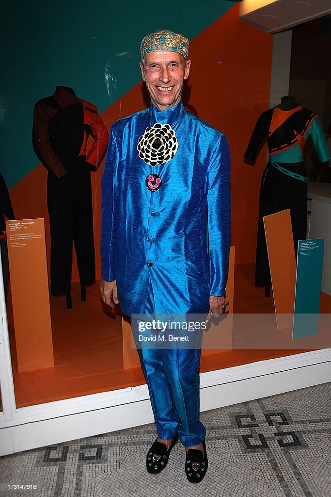 Andrew Logan attends the Club To Catwalk: London Fashion In The 1980's exhibition at Victoria & Albert Museum on July 8, 2013 in London, England.