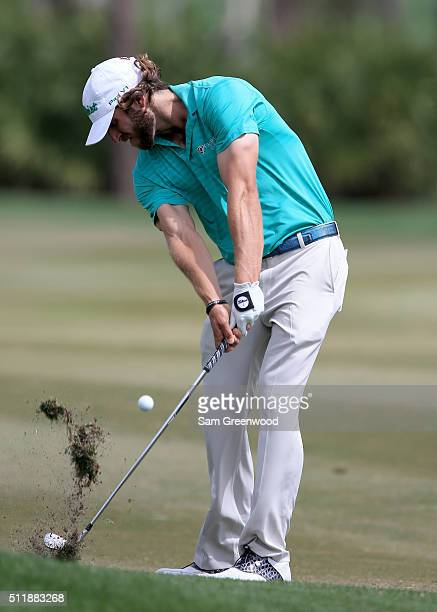 Andrew Loupe of the United States plays a shot during a preview round for The Honda Classic at PGA National Resort and Spa Champion Course on...