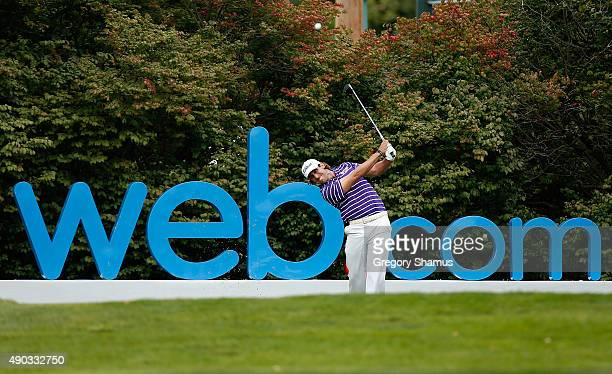 Andrew Loupe tees off on the 16th hole during the final round of the Webcom Tour Nationwide Children's Hospital Championship at The Ohio State...