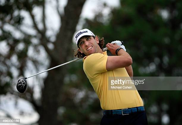 Andrew Loupe tees off on the second hole during round three at the Sanderson Farms Championship at The Country Club of Jackson on November 8 2015 in...