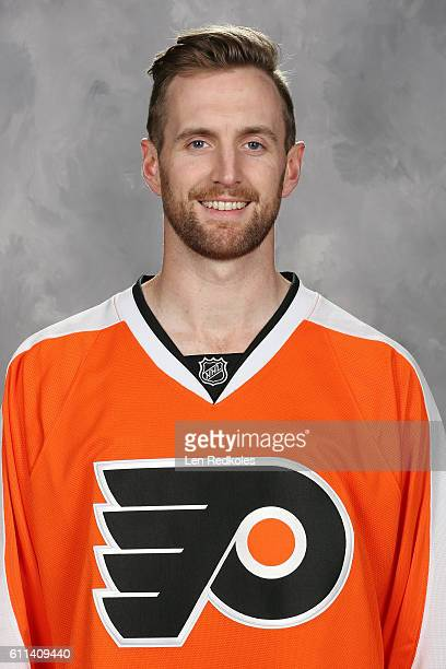 Andrew MacDonald of the Philadelphia Flyers poses for his official headshot for the 20162017 season on September 22 2016 at the Virtua Flyers Skate...