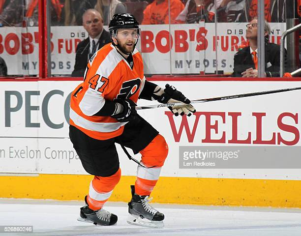 Andrew MacDonald of the Philadelphia Flyers skates against the Washington Capitals in Game Six of the Eastern Conference First Round during the 2016...