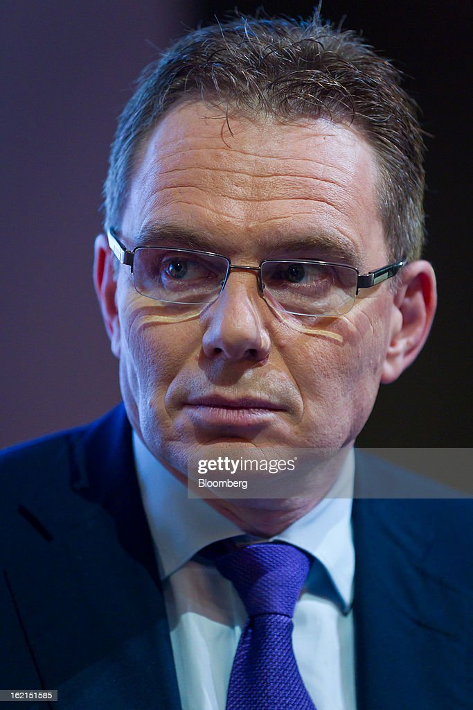 Andrew Mackenzie chief executive officer for nonferrous at BHP Billiton Ltd attends a news conference in Sydney Australia on Wednesday Feb 20 2013...