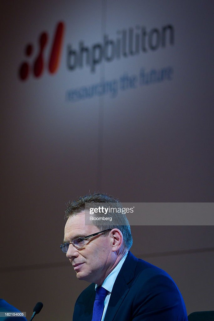 Andrew Mackenzie, chief executive officer for non-ferrous at BHP Billiton Ltd., attends a news conference in Sydney, Australia, on Wednesday, Feb. 20, 2013. BHP Billiton, the world's biggest mining company, named its copper unit head Andrew Mackenzie as chief executive officer to succeed Marius Kloppers before reporting a 58 percent decline in first-half profit. Photographer: Ian Waldie/Bloomberg via Getty Images