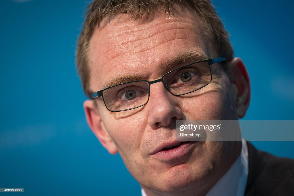 Andrew Mackenzie, chief executive officer of BHP Billiton Ltd. and member of the B-20 group of executives, speaks during a news conference ahead of the Group of 20 (G-20) summit in Brisbane, Australia, on Friday, Nov. 14, 2014. Australian Prime Minister Tony Abbott will host the G-20 summit of developed and developing nations in Brisbane this weekend. Photographer: Ian Waldie/Bloomberg via Getty Images