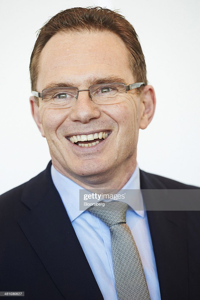 Andrew Mackenzie chief executive officer of BHP Billiton Ltd reacts during the company's annual general meeting in Perth Australia on Thursday Nov 21...