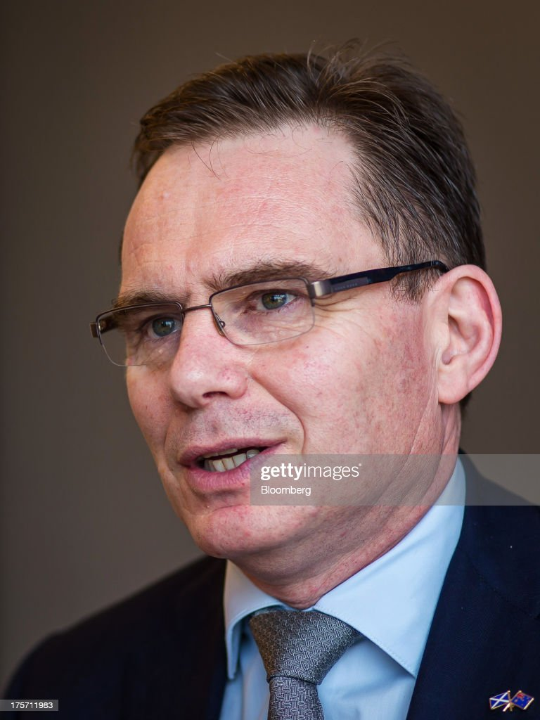 Andrew Mackenzie, chief executive officer of BHP Billiton Ltd., speaks during an interview at the company's headquarters in Melbourne, Australia, on Wednesday, Aug. 7, 2013. BHP, the worlds biggest mining company, signaled it will expand in the shale oil and gas industry in the U.S., forecasting global commodity demand will jump 75 percent over the next 15 years. Photographer: Ian Waldie/Bloomberg via Getty Images