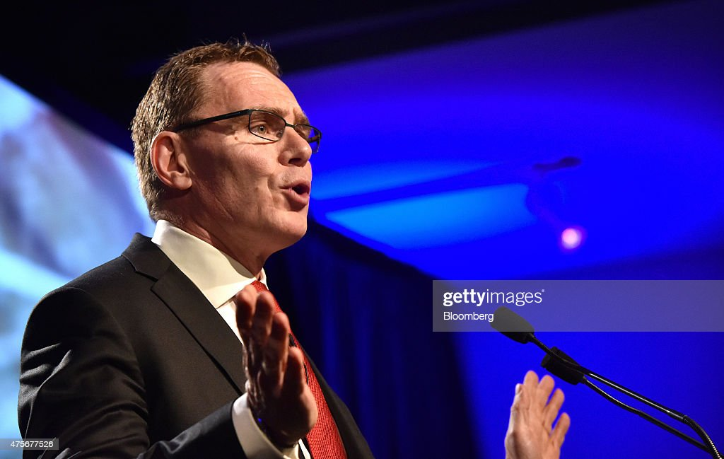 Andrew Mackenzie chief executive officer of BHP Billiton Ltd speaks at the Minerals Week seminar in Canberra Australia on Wednesday June 3 2015 BHP...