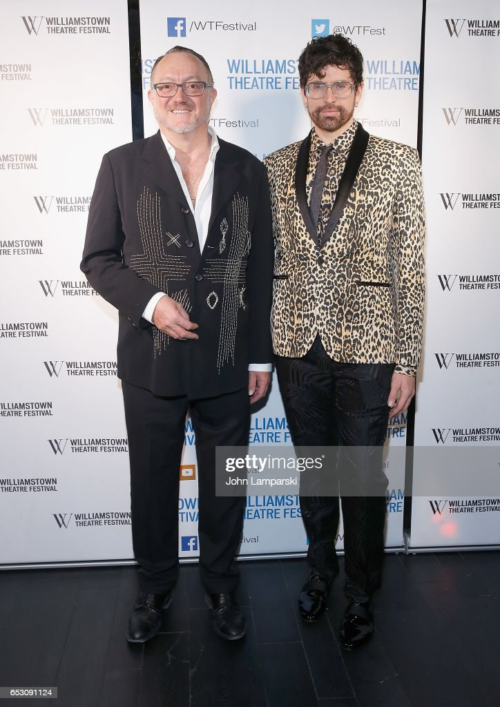 Andrew Martin-Webe and Machine Dazzle attend 2017 Williamstown Theatre Festival Gala at TAO Downtown on March 13, 2017 in New York City.
