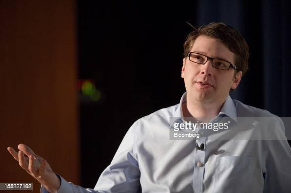 Andrew Mason chief executive officer at Groupon Inc speaks during a keynote address at the Mobile Loco conference 2012 in San Francisco California US...