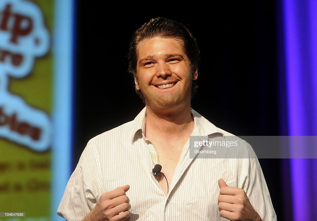 Andrew Mason, founder and chief executive officer of Groupon Inc., speaks at the TechCrunch Disrupt conference in San Francisco, California, U.S., on Wednesday, Sept. 29, 2010. The conference concludes today. Photographer: Noah Berger/Bloomberg via Getty Images