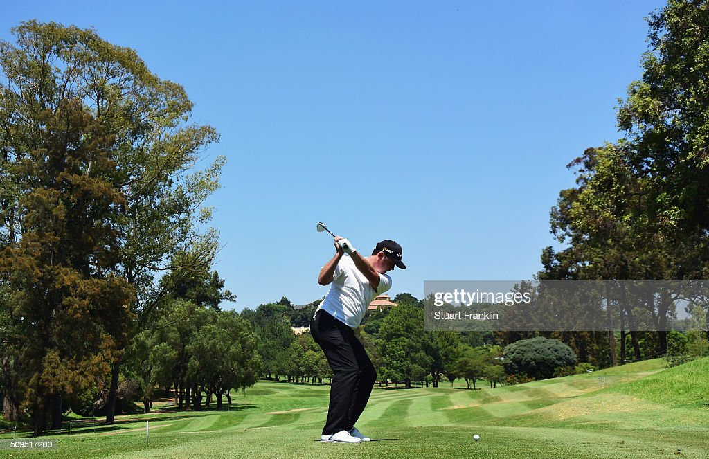 Andrew McArthur of Scotland plays a shot during the first round of the Tshwane Open at Pretoria Country Club on February 11, 2016 in Pretoria, South Africa.