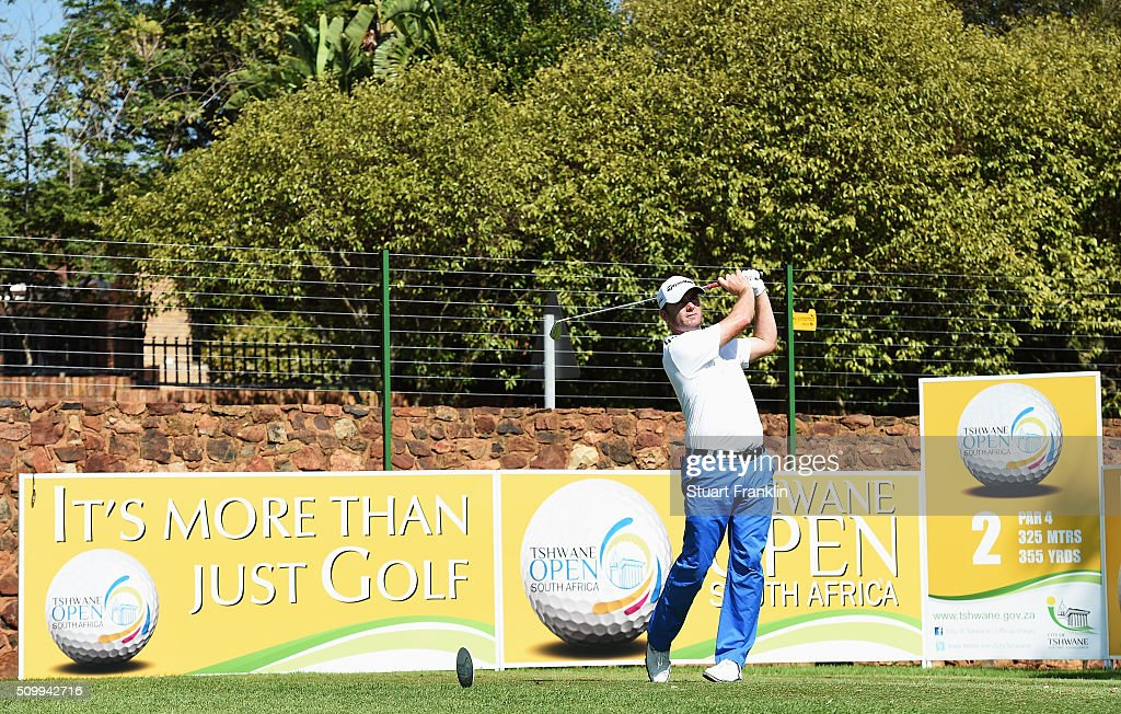 Andrew McArthur of Scotland plays a shot during the third round of the Tshwane Open at Pretoria Country Club on February 13, 2016 in Pretoria, South Africa.