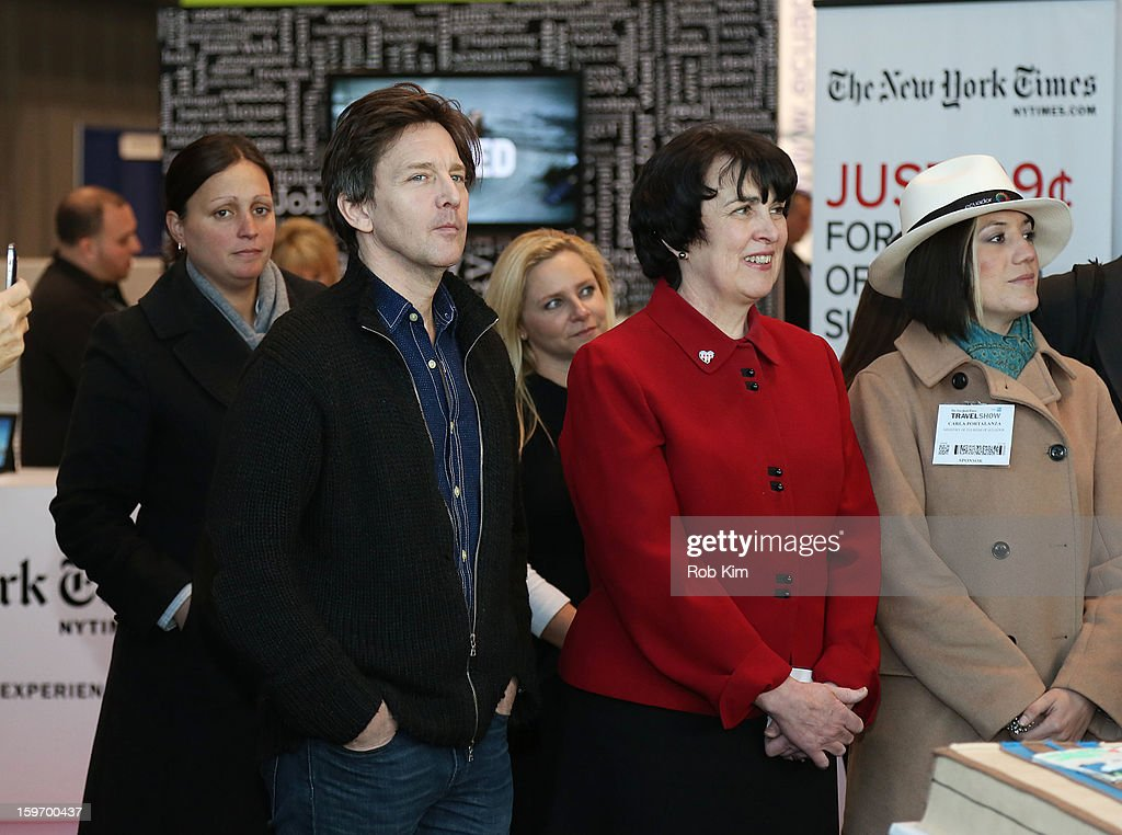 Andrew McCarthy (L) attends The 10th Annual New York Times Travel Show Ribbon Cutting And Preview at Javits Center on January 18, 2013 in New York City.