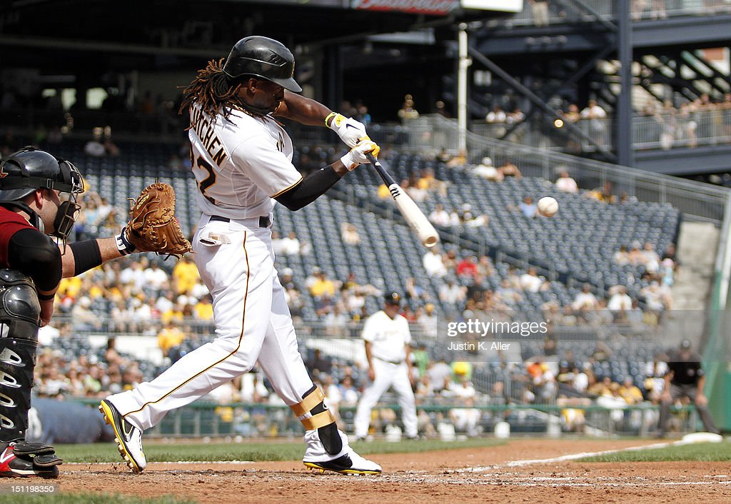 <a gi-track='captionPersonalityLinkClicked' href=/galleries/search?phrase=Andrew+McCutchen&family=editorial&specificpeople=2364814 ng-click='$event.stopPropagation()'>Andrew McCutchen</a> #22 of the Pittsburgh Pirates grounds into a fielders choice against the Houston Astros during the game on September 3, 2012 at PNC Park in Pittsburgh, Pennsylvania.