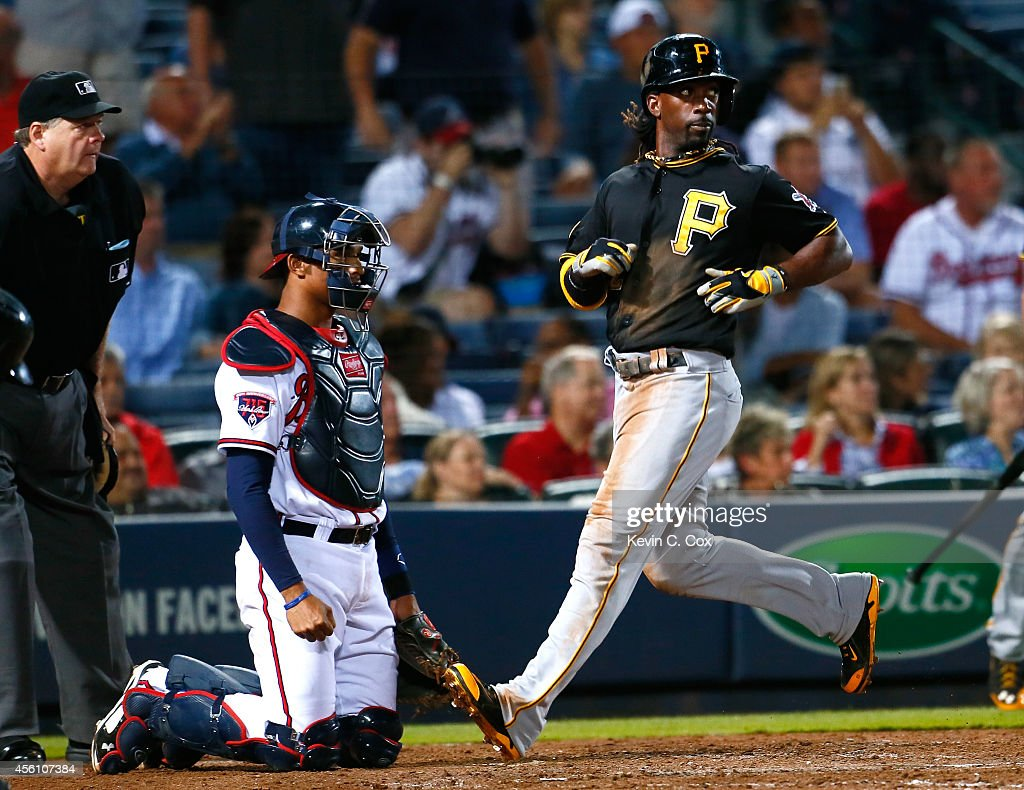 Starling marte photos photos cincinnati reds v pittsburgh pirates - Andrew Mccutchen 22 Of The Pittsburgh Pirates Scores On A Two Rbi Double By
