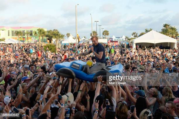 Andrew McMahon in the Wilderness performs at the Fitz's Stage during 2017 Hangout Music Festival on May 19 2017 in Gulf Shores Alabama