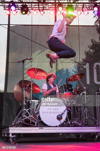 Andrew McMahon of Andrew McMahon in the Wilderness performs on stage during the Summer Camp Music Festival hosted by 1077 The End at Marymoor Park on...