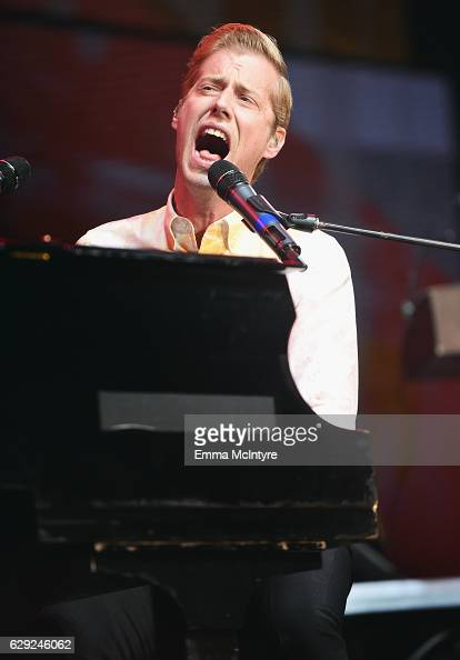 Andrew McMahon of Andrew McMahon in the Wilderness performs onstage at 1067 KROQ Almost Acoustic Christmas 2016 Night 2 at The Forum on December 11...