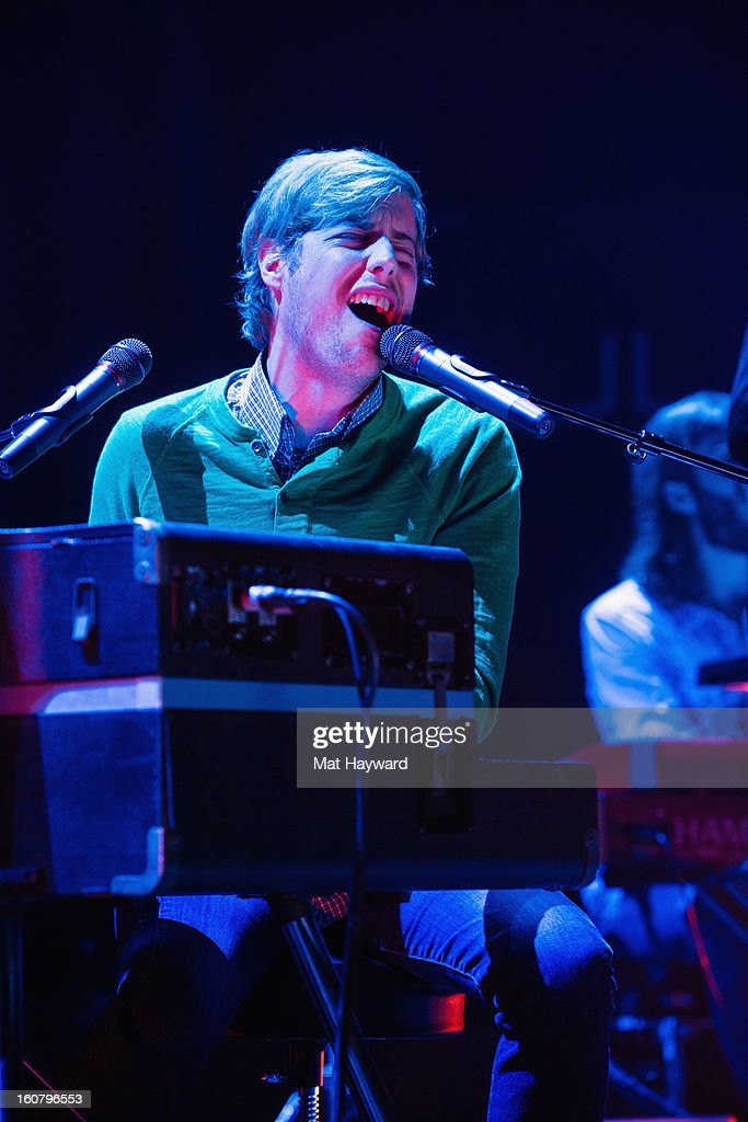 <a gi-track='captionPersonalityLinkClicked' href=/galleries/search?phrase=Andrew+McMahon+-+Singer+Songwriter&family=editorial&specificpeople=2559943 ng-click='$event.stopPropagation()'>Andrew McMahon</a> performs as the opening act for fun. at Paramount Theatre on February 5, 2013 in Seattle, Washington.