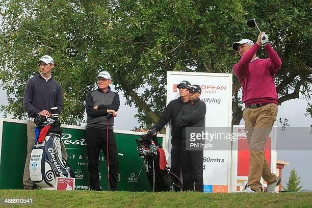 Andrew Murray of England drives from the 1st tee during the third round of the European Senior Tour Qualifying School Finals played at Vale da Pinta...