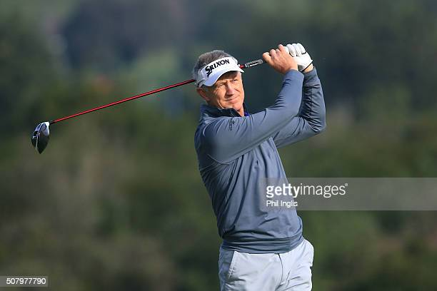 Andrew Murray of England in action during the second round of the European Senior Tour Qualifying School Finals played at Pestana Resort Vale da...