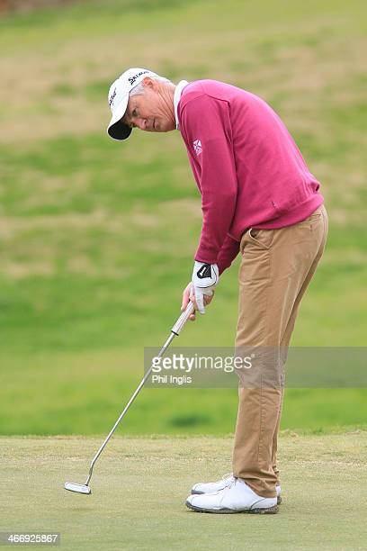 Andrew Murray of England in action during the third round of the European Senior Tour Qualifying School Finals played at Vale da Pinta Pestana Golf...