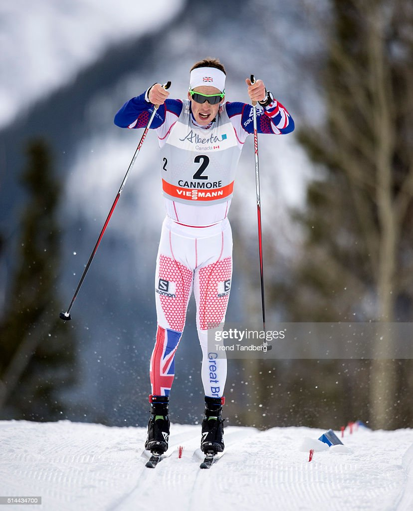 Andrew Musgrave of Great Britain competes during Cross Country Men 15 km Sprint Classic on March 08 2016 in Canmore Canada