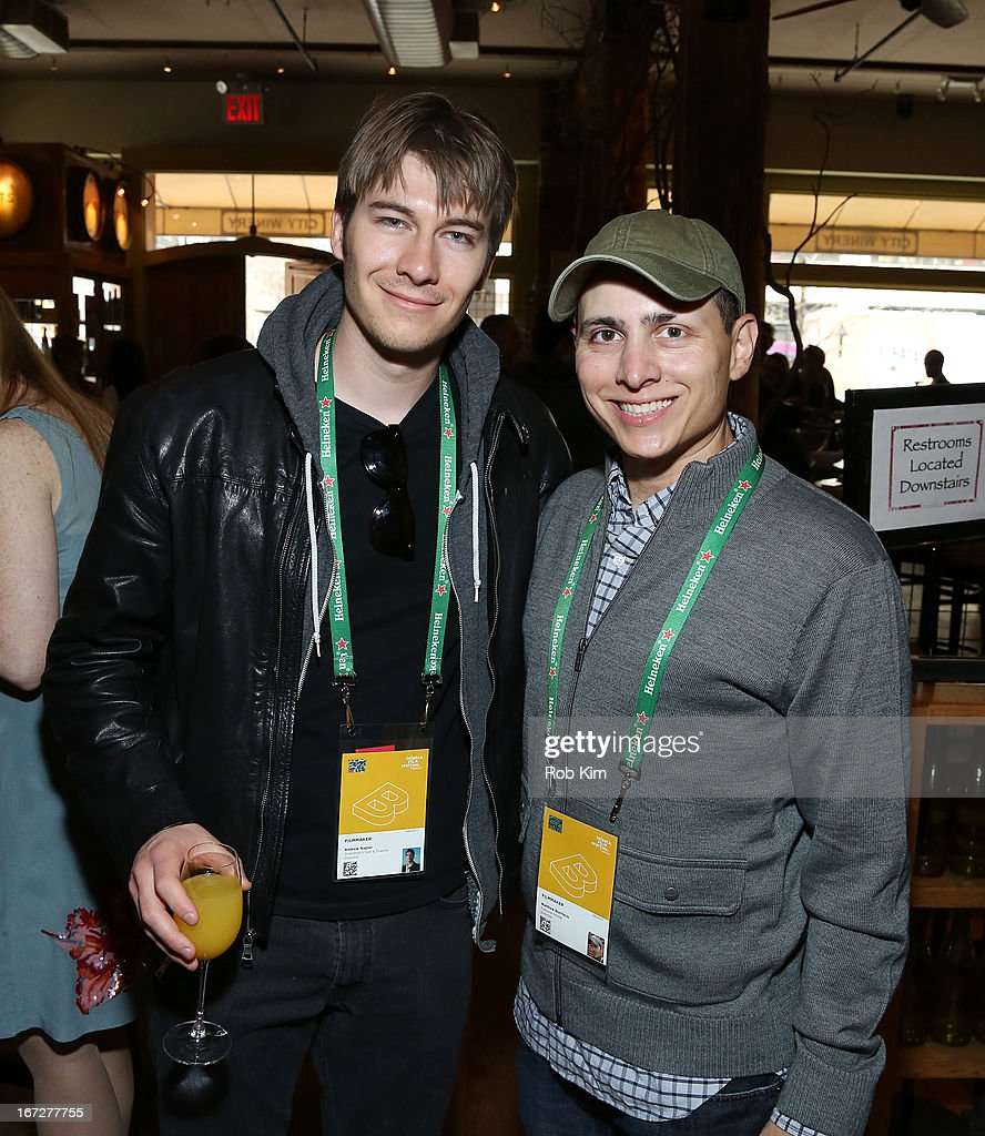 Andrew Napier (L) and Matthew Bonifacio attend the Directors Brunch during the 2013 Tribeca Film Festival on April 23, 2013 in New York City.