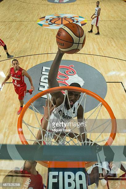Andrew Nicholson of Canada goes to the basket during a second stage match between Mexico and Canada as part of the 2015 FIBA Americas Championship...