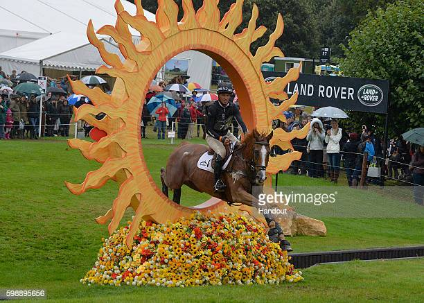 Andrew Nicholson of New Zealand riding Nereo during the Cross Country during The Land Rover Burghley Horse Trials 2016 on September 3 2015 in...