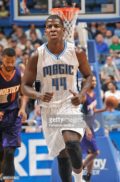 Andrew Nicholson of the Orlando Magic during the game against the Phoenix Suns on March 4 2015 at Amway Center in Orlando Florida NOTE TO USER User...