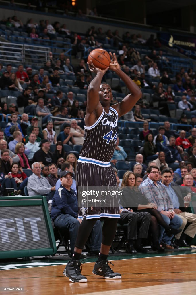 Andrew Nicholson #44 of the Orlando Magic shoots the ball against the Milwaukee Bucks on March 10, 2014 at the BMO Harris Bradley Center in Milwaukee, Wisconsin.