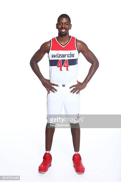 Andrew Nicholson of the Washington Wizards poses for a portrait during the 20162017 Media Day on September 26 2016 at the Verizon Center in...