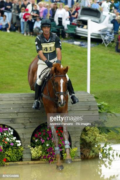 Andrew Nicholson on New York at the Lower Trout Hatchery at the Burghley Horse Trials Cross Country Event