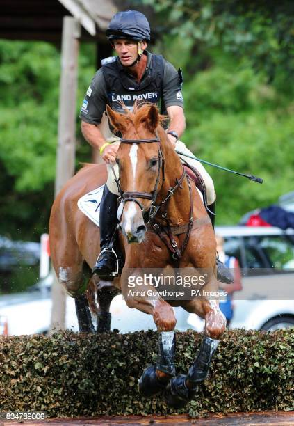 Andrew Nicholson riding Armada during the cross country event during the Burghley Horse Trials Stamford