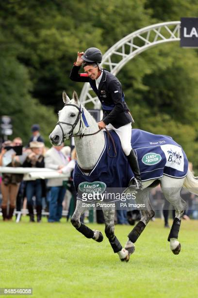 Andrew Nicholson wins the Burghley Horse Trials at Burghley Park Stamford