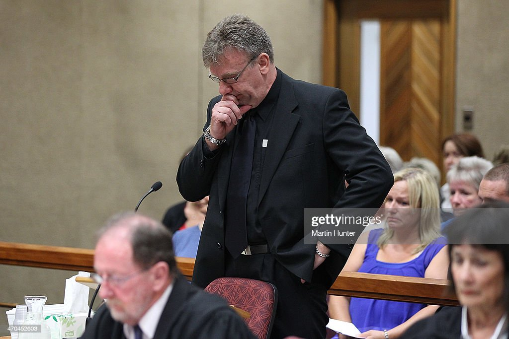 Andrew Nisbet, brother of Philip Nisbet, reads his victim impact statement in court on February 20, 2014 in Christchurch, New Zealand. In 2013, Helen Milner was found guilty of the murder and attempted murder of her husband, Philip Nisbet, who was found dead in their Halswell home on May 4, 2009.