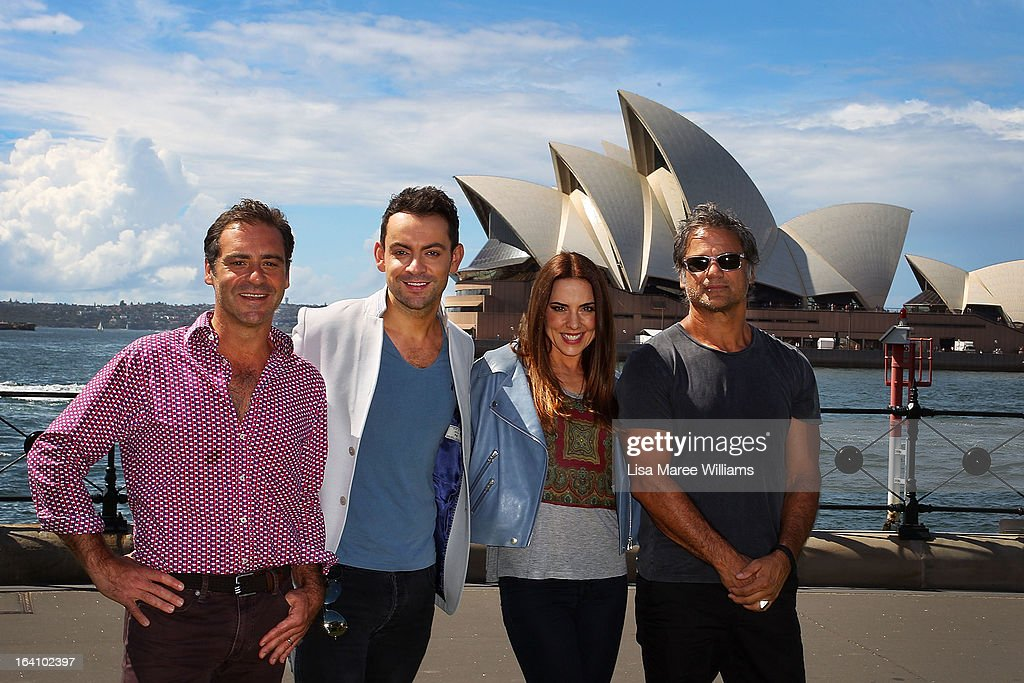 <a gi-track='captionPersonalityLinkClicked' href=/galleries/search?phrase=Andrew+O%27Keefe&family=editorial&specificpeople=707895 ng-click='$event.stopPropagation()'>Andrew O'Keefe</a>, Ben Forster, Melanie C and Jon Stevens from the cast of Jesus Christ Superstar pose for media at Hicksons Road Reserve in The Rocks, on March 20, 2013 in Sydney, Australia.