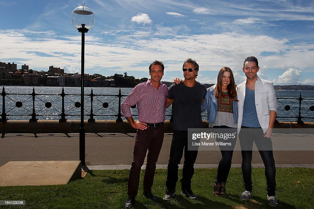 <a gi-track='captionPersonalityLinkClicked' href=/galleries/search?phrase=Andrew+O%27Keefe&family=editorial&specificpeople=707895 ng-click='$event.stopPropagation()'>Andrew O'Keefe</a>, Jon Stevens, Melanie C and Ben Forster from the cast of Jesus Christ Superstar pose for media at Hicksons Road Reserve in The Rocks, on March 20, 2013 in Sydney, Australia.
