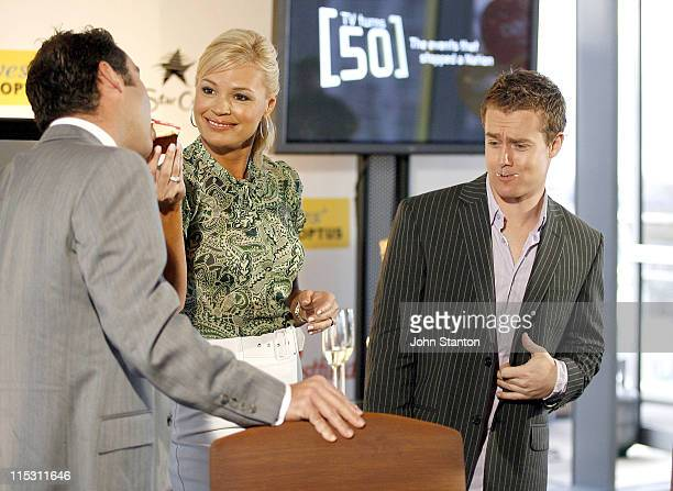 Andrew O'Keefe Sonia Kruger and Grant Denyer during TV Turns 50 Photo Call in Sydney at Star City in Sydney NSW Australia